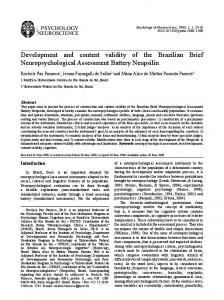 Development and content validity of the Brazilian
