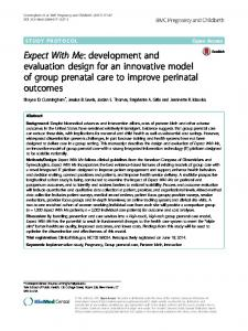 development and evaluation design for an