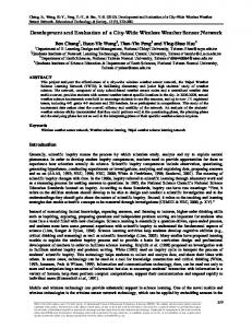Development and Evaluation of a City-Wide Wireless Weather Sensor ...