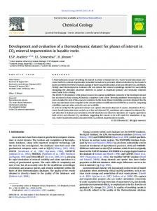 Development and evaluation of a thermodynamic dataset for phases ...