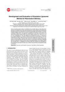 Development and Evaluation of Emulsion-Liposome ...