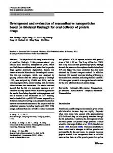 Development and evaluation of mucoadhesive nanoparticles based ...