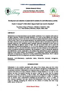 Development and evaluation of polyherbal