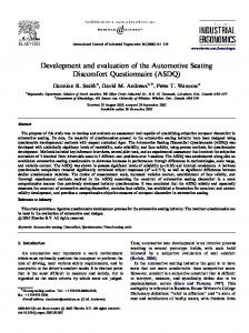 Development and evaluation of the Automotive ...