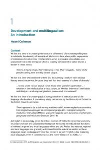 Development and multilingualism: An introduction - Language and ...