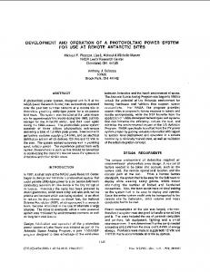 DEVELOPMENT AND OPERATION OF A ... - IEEE Xplore