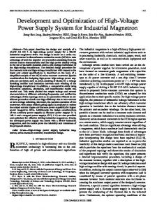 Development and Optimization of High-Voltage Power ... - IEEE Xplore