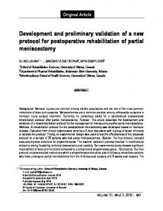 Development and preliminary validation of a new protocol for
