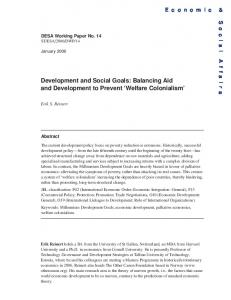 Development and Social Goals - the United Nations