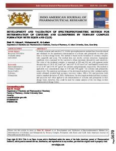 development and validation of spectrophotometric ...