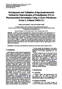 Development and Validation of Spectrophotometric Method for ...