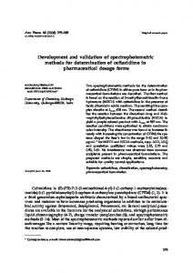 Development and validation of spectrophotometric methods for ...