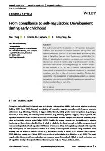 Development during early childhood - Wiley Online Library