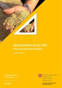 DEVELOPMENT IN LAO PDR: The Food Security Paradox - Vietnam