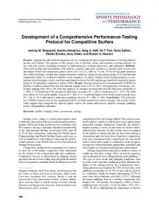 Development of a Comprehensive Performance-Testing Protocol for ...