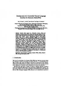 Development of a Controlled Natural Language Interface for Semantic ...