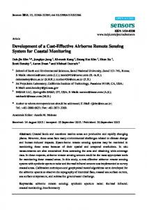 Development of a Cost-Effective Airborne Remote Sensing ... - MDPI