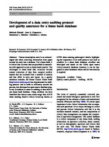 Development of a data entry auditing protocol and ... - Springer Link