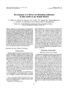 Development of a device for measuring adherence of ... - Springer Link