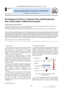 Development of a Device to Measure Mass and