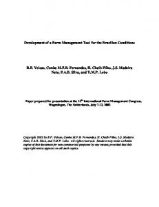 Development of a Farm Management Tool for the ... - AgEcon Search