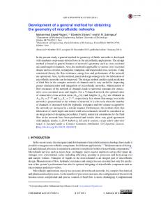 Development of a general method for obtaining the ... - AIP Publishing