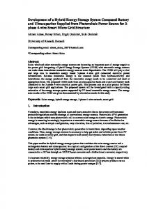 Development of a Hybrid Energy Storage System Composed Battery ...