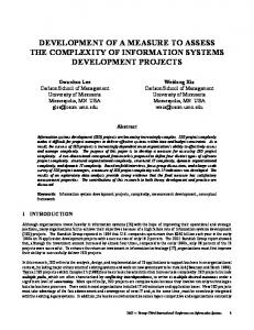 development of a measure to assess the complexity of information ...