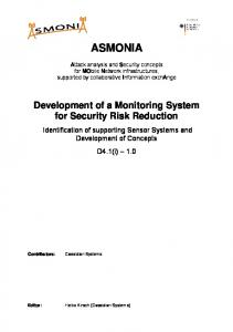 Development of a Monitoring System for Security