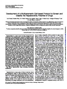Development of a Multiparametric Cell-based Protocol to Screen and ...