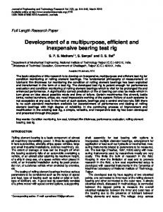 Development of a multipurpose, efficient and ... - Academic Journals