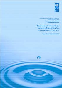 Development of a national human rights action plan: The experience ...
