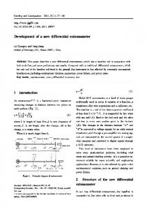 Development of a new differential extensometer - Core
