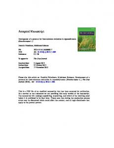 Development of a protocol for frost-tolerance ...