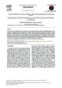 Development of a PSS-oriented Business Model for ... - Science Direct