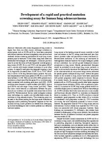 Development of a rapid and practical mutation screening assay for ...