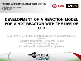 development of a reaction model for a hdt reactor with