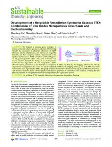 Development of a Recyclable Remediation System for Gaseous BTEX