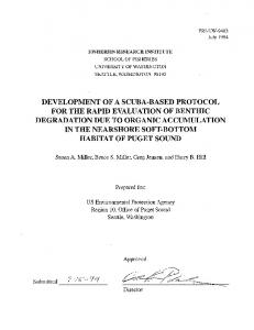 development of a scuba-based protocol for the ...