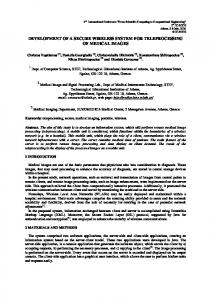 Development of a Secure Wireless System For Teleprocessing of ...