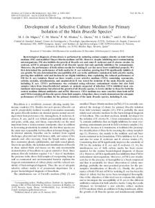 Development of a Selective Culture Medium for Primary Isolation of ...