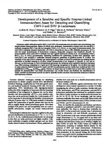 Development of a Sensitive and Specific Enzyme-Linked ...