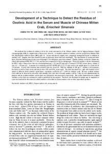 Development of a Technique to Detect the Residue of ...