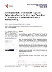 Development of a Web-Based Geographic Information System for ...