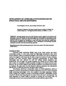 development of a wireless active system for tps structural health ...