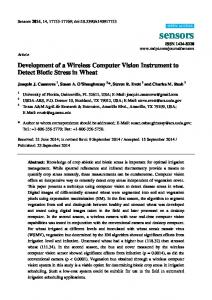 Development of a Wireless Computer Vision Instrument to ... - MDPI
