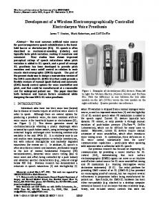 Development of a Wireless Electromyographically ... - IEEE Xplore
