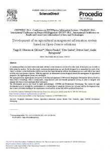 Development of an Agricultural Management ... - Science Direct