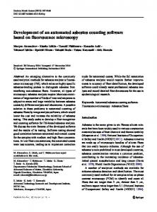 Development of an automated asbestos counting ...