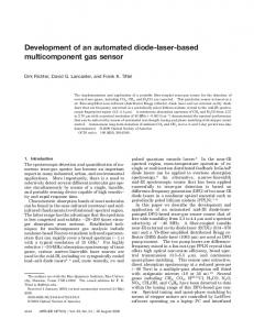 Development of an automated diode-laser-based
